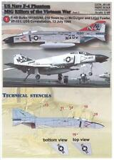 Print Scale Decals 1/48 U.S. NAVY F-4 PHANTOM II MiG KILLERS IN VIETNAM Part 2