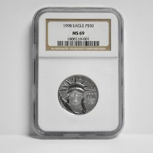 1998 $50 American Platinum Eagle 1/2-oz NGC MS69 (slx3906)