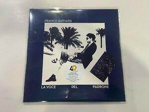 LP FRANCO BATTIATO LA VOCE DEL PADRONE LP BLU + CD NUMERATO NUOVO E SIGILLATO