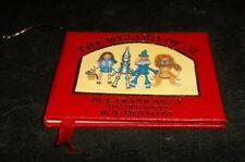 Vintage 1984 Kurt S Adler The Wizard of Oz Mini Christmas Book Ornament NICE !
