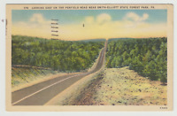 Penfield Road Near Smith-Elliott State Forest Park,  PA, Linen  Postcard