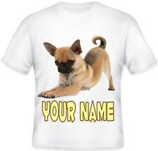 GIRLS BOYS Kids Personalised CHUG Dog Puppy Chihuahua Pug T Shirt
