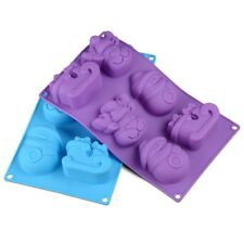 Christmas Snowman Reindeer Soap Cake Mold Chocolate Silicone Mould UK Stock