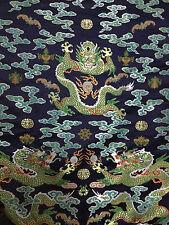 2.6 metres long chinese Dragon robe silk brocade fabric Chinoiserie decor !NEW!