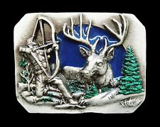 DEER BOW AND ARROW HUNTER HUNTING SEASON BELT BUCKLE BOUCLE DE CEINTURE