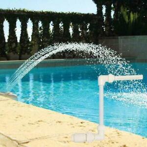 1* White Waterfall Fountain Cool Temp Swimming Pool Accessories Spray I9D0