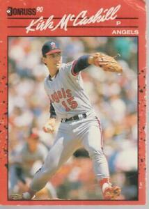 1990 Donruss Kirk McCaskill  Angels  #170