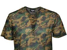 MENS CAMO TSHIRT V-NECK CHEAP IN DARK CAMO & LIGHT CAMO DESIGNER ONLY £5.99