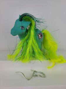 My Little Pony Princess Pristina Green Aqua Tinsel Pegasus Vintage G1 Hasbro HTF