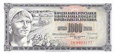 Yugoslavia 1000 Dinara 4.11.1981 Prefix CR Uncirculated Banknote , G13