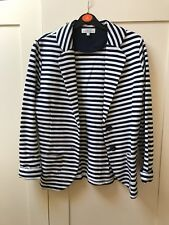 Striped Casual Blazer Striped Navy White Matalan cotton size 8