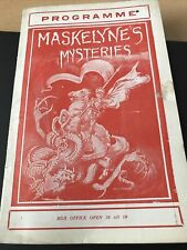 More details for maskelyne's mysteries theatre programme