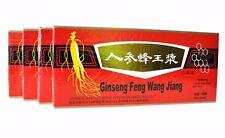 4 Boxes Ginseng Royal Jelly Oral Liquid Improves Stamina & Memory 4 x 10 Vials