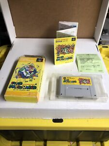 Super Famicom Super Mario World boxed Japan SFC games US Seller