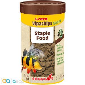 Sera Vipachips Nature Fish Food Chips 250mL Prebiotic Sinking Chips