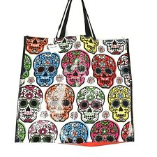 Day of the Dead Sugar Skulls Tote Bag Reusable Shopping Travel Marshalls