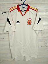 Spain Jersey 2004 2006 Away S Shirt Mens White Camiseta Football Soccer Adidas