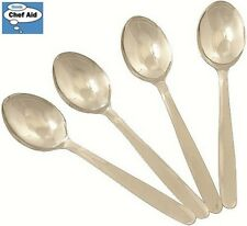 Chef Aid Set Of 4 Spoons Silver Serving Dining Eating Kitchen Accessory Home New