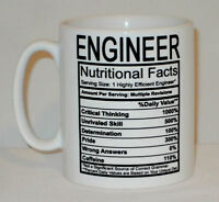 Engineer Nutritional Facts Mug Can Personalise Funny Work Tea Coffee Energy Gift