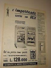 REX FRIGORIFERO ELETTRODOMESTICI=ANNI '50=PUBBLICITA=ADVERTISING=WERBUNG=576