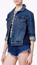 Free People Lace Panel Denim Jean Jacket Size XS -  $148 - NWT