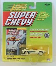 JOHNNY LIGHTNING SUPER CHEVY MAGAZINE 1961 CHEVROLET CORVETTE WHITE NRFP 291-05