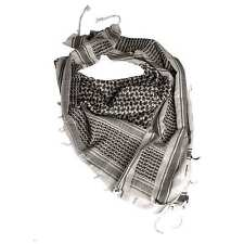 Shemagh Military Army Tactical Arab Neck Scarf Scrim Headscarf White / Black