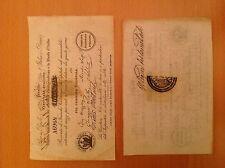 BANCONOTA REPUBBLICA ROMANA 25 FRANCHI PRESTITO NAZIONALE 1849