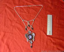 Necklace Alchemy Gothic P499 Transit of the Glory amethyst in enamel frame