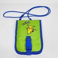 Green Pokemon Pikachu Nintendo Game Boy Color Travel Carrying Case Bag 90s VTG