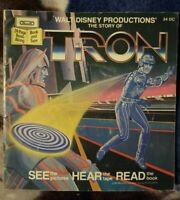 Vintage 1980s Walt Disney The Story of Tron 24 Page Read Along Book