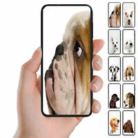 For Samsung Galaxy Series Dog Portrait Print Mobile Phone Back Case Cover #1