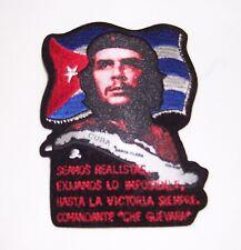 TOPPA PATCH CHE GUEVARA E CUBA BANDIERA CUBANA NERA HASTA LA VICTORIA SIEMPRE
