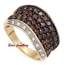 US$4249 FPJ High Quality 14K Gold Ring 1.75ctw Dark Red White Diamond 80% OFF