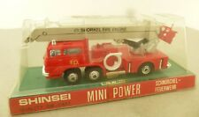 1980's Shinsei Mini Power Diecast Six Wheeled Snorkel Tower Fire Engine