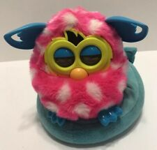 Furby Boom With Padded Bedding Pink White Polka Dot