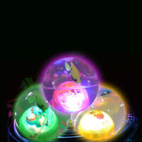 LED Flashing Light Up Bouncy Ball Crystal Jumping Fish Kid Gift Party Favor