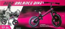 "Girls Black Pink Neon 12"" Balance Bike Kids Child No-Pedal Learn To Ride"
