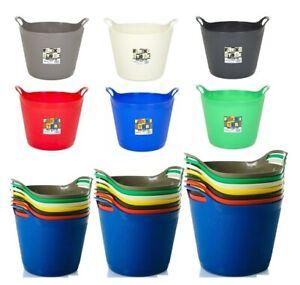 Flexi Tub Plastic Flexible Buckets Feed Trug Laundry Storage Container Garden