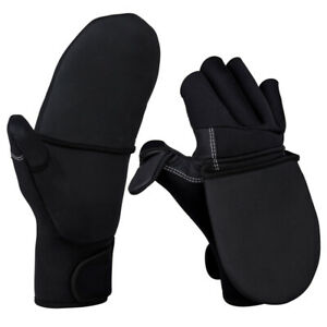 Foldover Mitts Fishing Gloves Non-Slip Outdoor Sports Winter Fishing Tackle