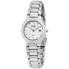 Citizen Eco-Drive Silhouette Silver Tone Diamond Women's Watch EW0970-51B
