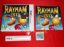 RAYMAN 3D Nintendo 3Ds Versione Ufficiale Italiana ○○○ COMPLETO - DE