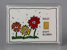 1 Gramm Gold 999,9 + Zertifikat ► 1g Feingoldbarren ► Muttertag Blumen Geschenk