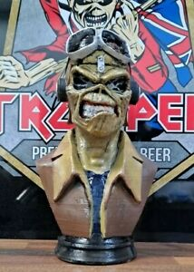 "Iron Maiden Figurine 6"" BUST Statue FIGURE Aces High EDDIE Custom Hand Painted"