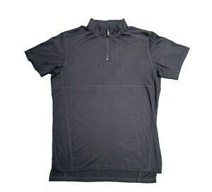 VULPINE Zip Neck 100% MERINO WOOL Cycling Polo Shirt Top Jersey Medium BNWOT