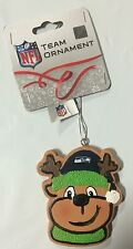 Seattle Seahawks Gingerbread REINDEER Christmas Tree Holiday Ornament NEW