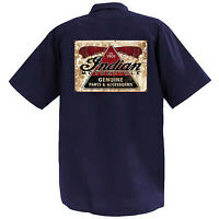 Indian Motorcycle II  - Mechanics Graphic Work Shirt  Short Sleeve