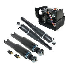 For Cadillac Chevrolet GMC Yukon 2 Pair Air Suspension Shocks + Compressor Pump