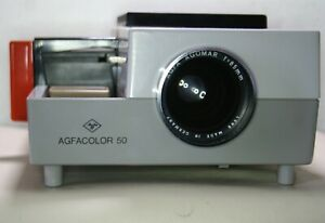 Agfacolor 50 Semi-Automatic Slide Projector For 2 x 2 Slides & Diapositives
