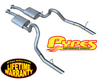 """1986-1993 Mustang LX 5.0 2.5"""" PYPES Cat-Back Exhaust System w/ Violator Mufflers"""